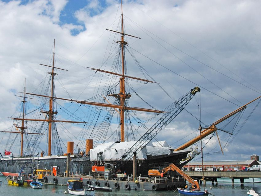 WM Plant Hire carry out repairs to HMS Warrior
