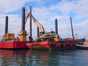 Dredging, St Mary's Harbour, Isles of Scilly